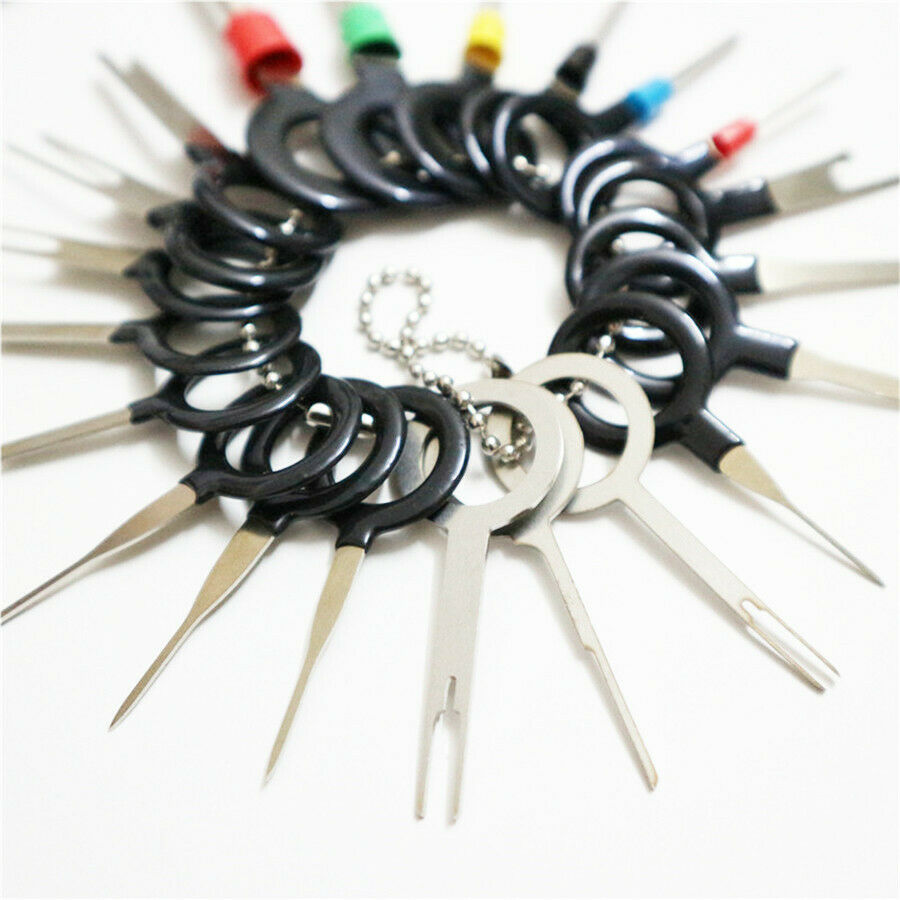 ::Motorcycle Wire Harness Plug Crimp Connector Pins Terminals Removal Key Tool Set