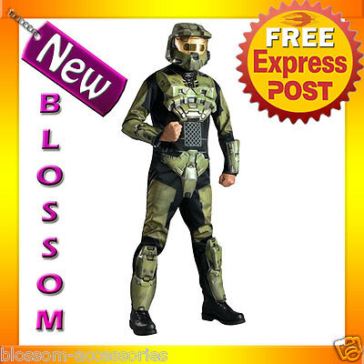 C354 Mens Halo 3 Deluxe Master Chief Suit Outfit Fancy Dress Halloween Costume ](Halo Master Chief Outfit)