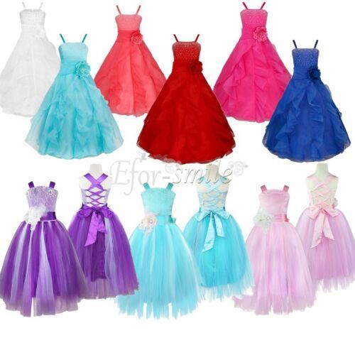 Flower Girl Bridesmaid Tutu Dress Pageant Wedding Princess Graduation for Kids