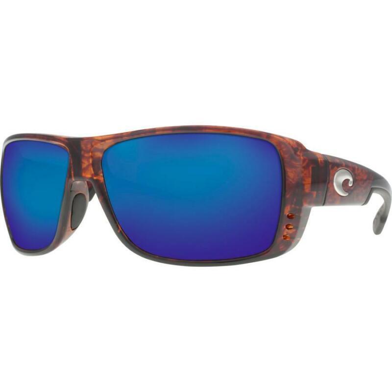 Costa del Mar Double Haul Polarized Sunglasses Tortoise/Blue Mirror 580G Glass