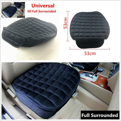 3D Full Surround Breathable Vehicle Seat Cover Chair Cushion Protect Mat Black