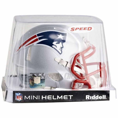 Nfl Mini Helmet - NEW ENGLAND PATRIOTS RIDDELL NFL MINI SPEED FOOTBALL HELMET