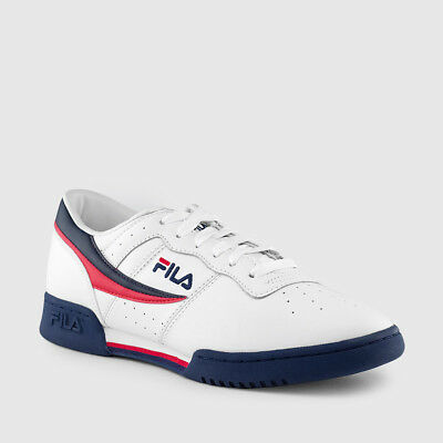 Fila Original Fitness White Navy Red Mens Sneakers Tennis Shoes Sizes