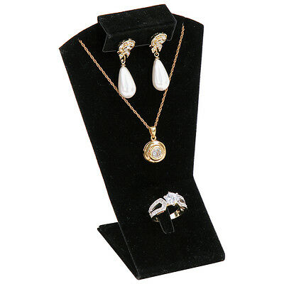 Black Combination Display Earring Pendant Ring Mini Display Set Jewelry Displays