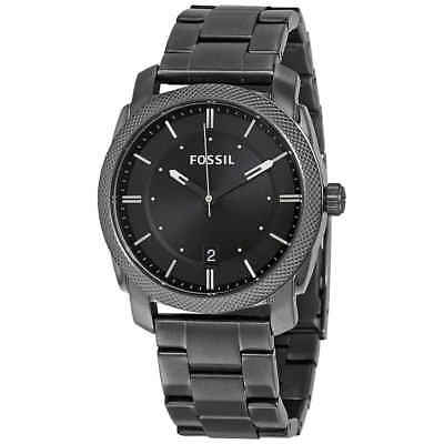 Fossil Machine Black Dial Smoke Ion-plated Men's Watch FS4774