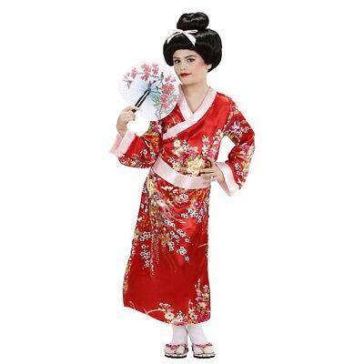 M Karneval Asien Japanerin Chinesin Japan Kimono Mädchen 7653 (Mädchen Geisha-kostüm)
