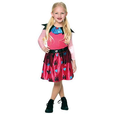 KINDER DRACULAURA KOSTÜM Halloween Vampirin Kleid Karneval Monster High Hexen