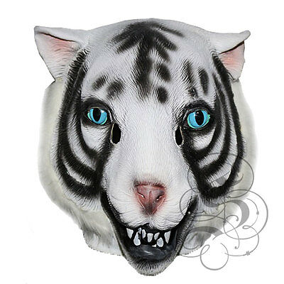 ngal White Tiger Wild Cat Fancy Dress Party Carnival Masks (Tiger Head Kostüm)
