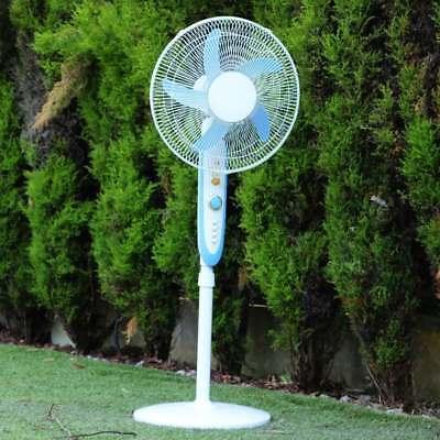 (PK Green 12V DC Oscillating Floor Standing Portable Pedestal Fan)