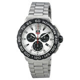 Tag Heuer Formula 1 Chronograph White Dial Stainless Steel Mens Watch