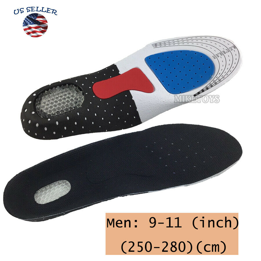 Gel Orthotic Sport Running Insoles Insert Shoe Pad Arch Supp