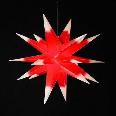 Weihnachtsstern rot/weiß  Ø 50 cm beleuchtet außen innen stern weihnachten deko ()
