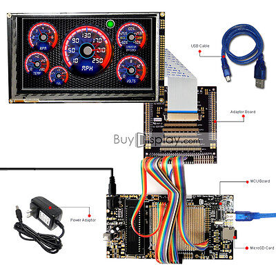 8051 Microcontroller Development Board Kit Usb Programmer For 7tft Lcd Module