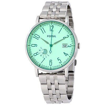 New Women's Fossil Vintage Green Muse Stainless Steel Bracelet Watch