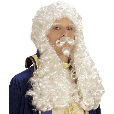 Iß König Adliger Richter Barock Rokoko Motto Kostüm Fest 6205 (Richter Perücken)