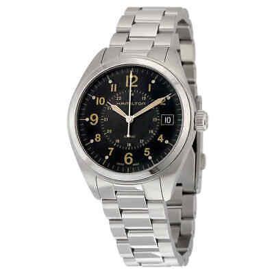 Hamilton Khaki Field Black Dial Stainless Steel Men's Watch H68551133