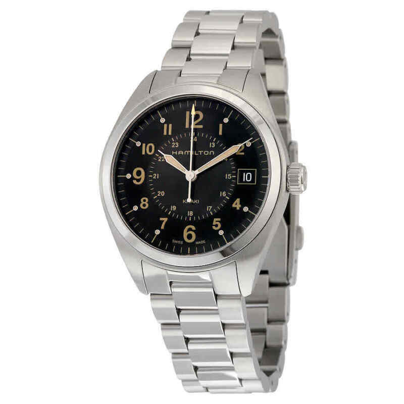 Hamilton-Khaki-Field-Black-Dial-Stainless-Steel-Men-Watch-H68551133