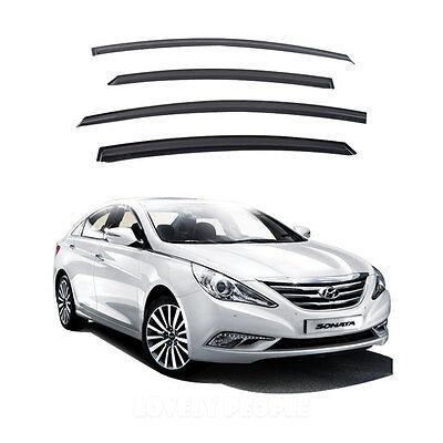 Smoke Window Vent Visors Rain Guards for 2010 - 2013 Hyundai YF Sonata
