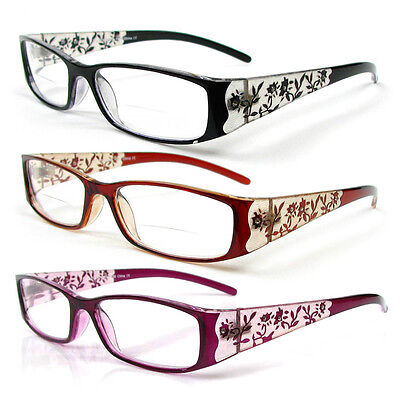 Reading Glasses Bifocal Floral Pattern Crystal Readers 100-400 (Crystal Readers Reading Glasses)
