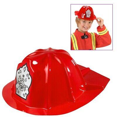 3 STK. FEUERWEHR HELM KINDER Karneval Feuerwehrmann Kostüm Jungen Hut Rot 2861 ()
