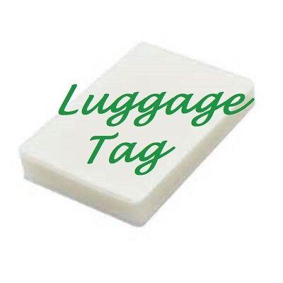 50 Luggage Tag Laminating Pouches Sheets 2-12 X 4-14 5 Mil No Slot Quality