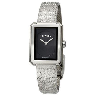 Chanel Boy-Friend Black Guilloche Dial Ladies Watch H4876