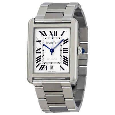 Cartier Tank Solo XL Automatic Silver Dial Men's Watch W5200028 Tank Silver Dial