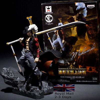New One Piece Dracule Mihawk 15cm Action Figure Anime Collection  UK  FAST