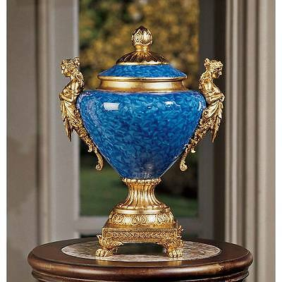 Design Toscano Berkshire Hall Dual Maiden Urn Accents Finished In Faux Gold Leaf