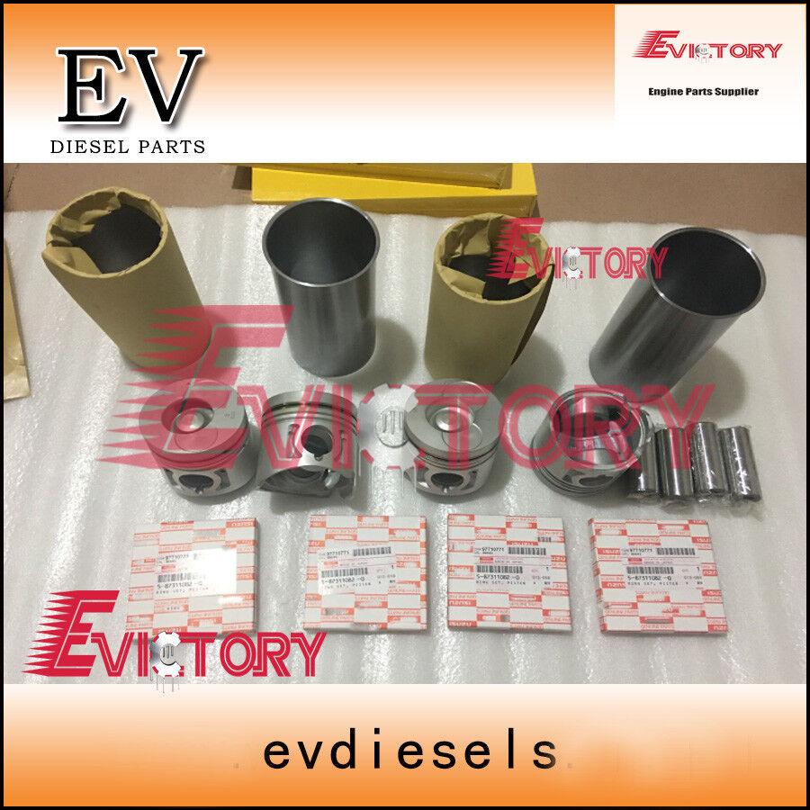For Isuzu 4JB1 4JB1T piston ring cylinder liner bearing gasket kit