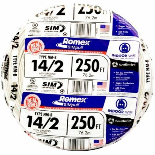 250-ft 14/2 Romex SIMpull Non-Metallic Wire NM-B Cable Indoor Wire(By-the-Roll)