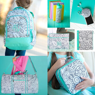 PERSONALIZED PAISLEY BACKPACK LUNCH BOX TOTE DUFFEL PENCIL BAG CASE WATER - Personalized Character Backpacks