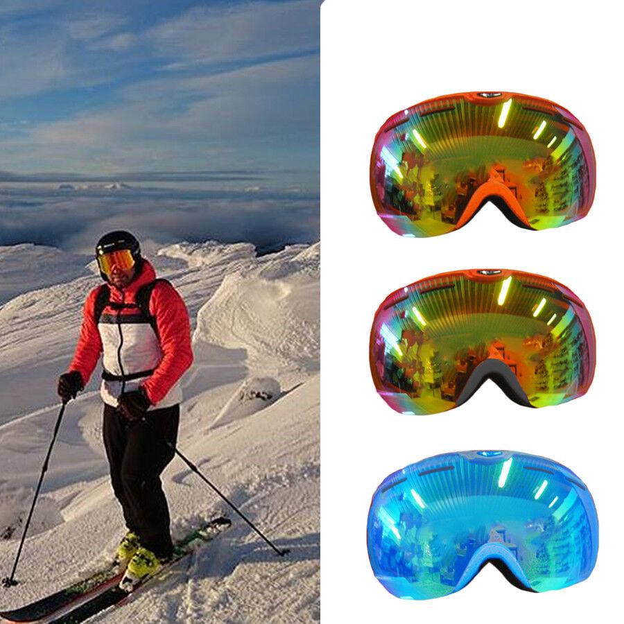 hive outdoor republic Herren Skibrille UV400 Antibeschlag Wechselgläser leicht