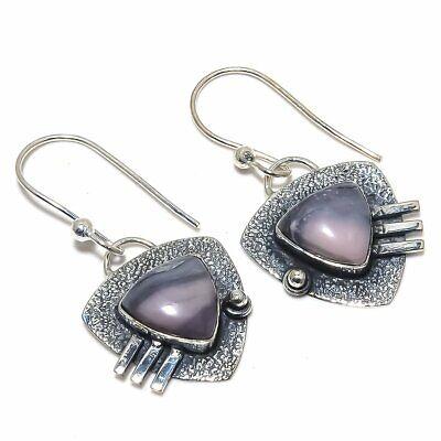 """Porcelain Jasper Gemstone Handmade Ethnic .925 Silver Earring 1.7"""""""