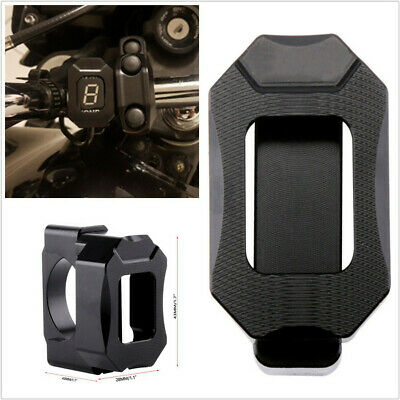 1BLACK ALUMINUM ALLOY MOTORCYCLE SPEED GEAR DISPLAY INDICATOR BRACKET