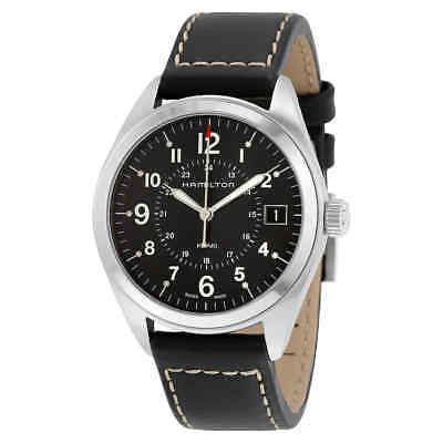 Hamilton Khaki Field Black Dial Black Leather Watch H68551733