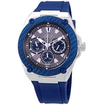 Guess Mens Blue Dial Watch (Guess Legacy Blue Dial Blue Silicone Men's Watch W1049G1 )