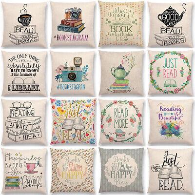 Coffee Book Letter Cushion Cover Linen Waist Throw Pillow Case Sofa Home - Java Linen Pillow
