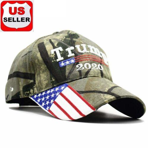 President  Donald Trump 2020 Hat Black USA Flag Make America Great Again Cap gh