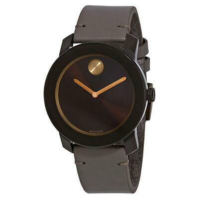 Movado 3600455 Bold  42MM Men's Brown Leather Watch