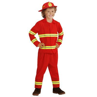 FEUERWEHRMANN KOSTÜM & HELM # Karneval Feuerwehr Kinder Jungen Verkleidung 0393