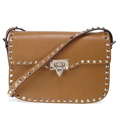 Valentino Rockstud Cross Body Bag - Brown