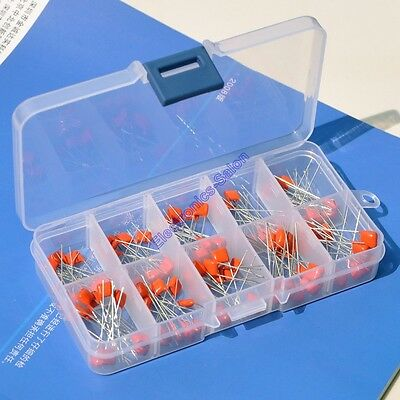 Metallized Polyester Film Capacitors Assortment Kit 10nf 470nf