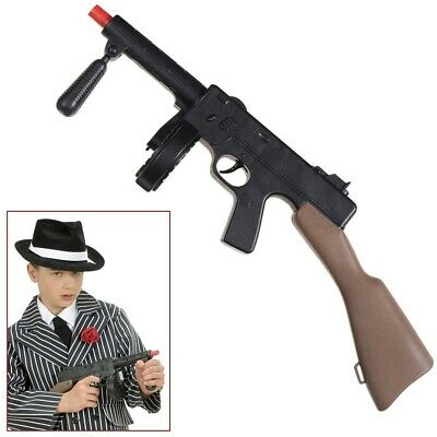 GANGSTER MASCHINENGEWEHR # Armee Soldaten MG Kinder Kostüm Spielzeug Gewehr 3062