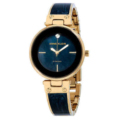 Anne Klein Navy MOP Dial Ladies Watch 2512NVGB