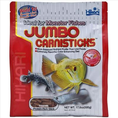 Hikari Jumbo Carnisticks 182g Fish Food Monster Fishes Large Arowana Carnivore