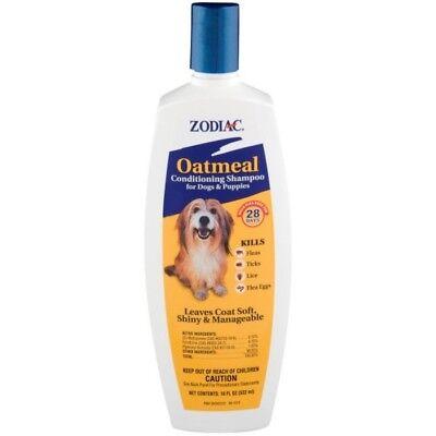 Zodiac Oatmeal Dogs & Puppies Conditioning Shampoo Kills Fleas Tick & Lice 18oz