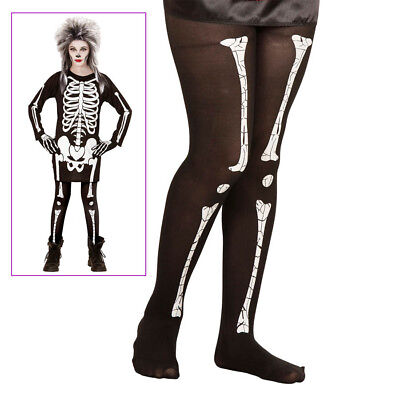SKELETT STRUMPFHOSE KINDER Halloween Karneval Kostüm Zombie Monster Party # - Skelett Kostüm Strumpfhose
