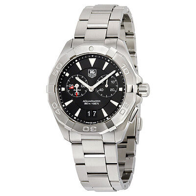Tag Heuer Aquaracer Black Dial Stainless Steel Mens Watch WAY111Z.BA0928