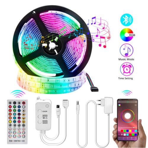 32ft 10m 12V LED Strip Lights 5050 RGB Color Changing Blueto